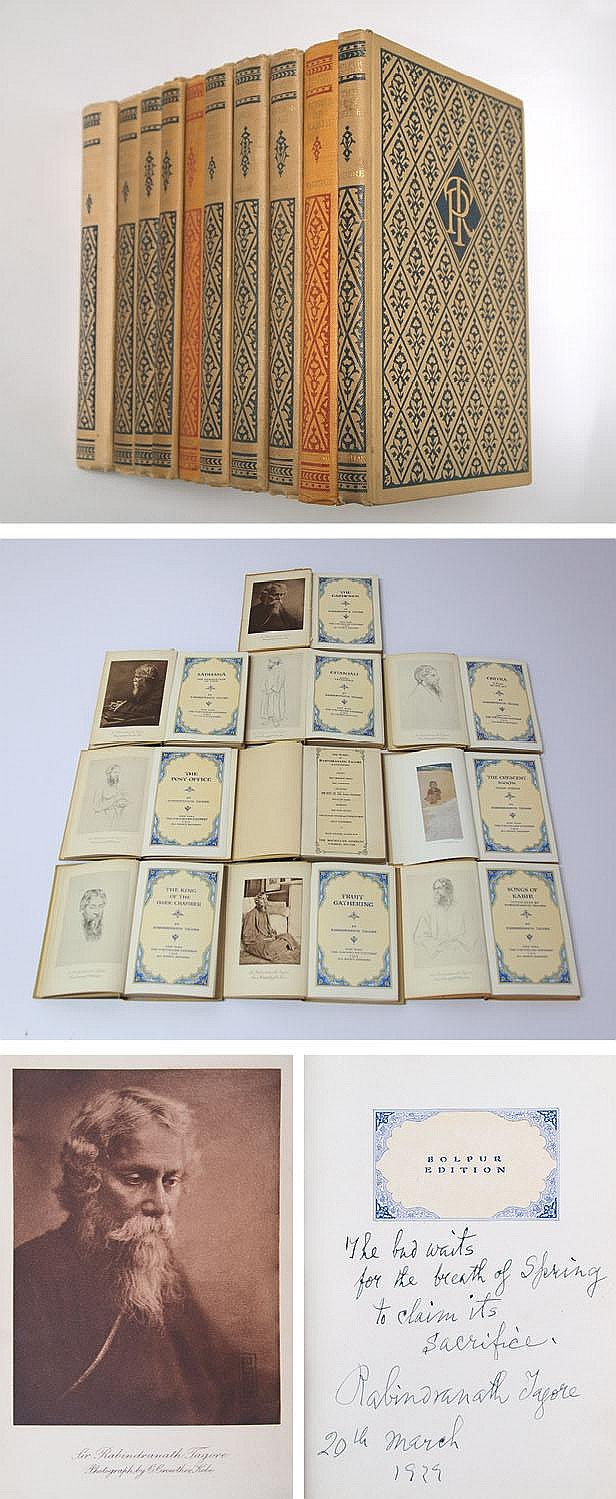 A beautiful 1916 antiquarian book set of Tagore's works