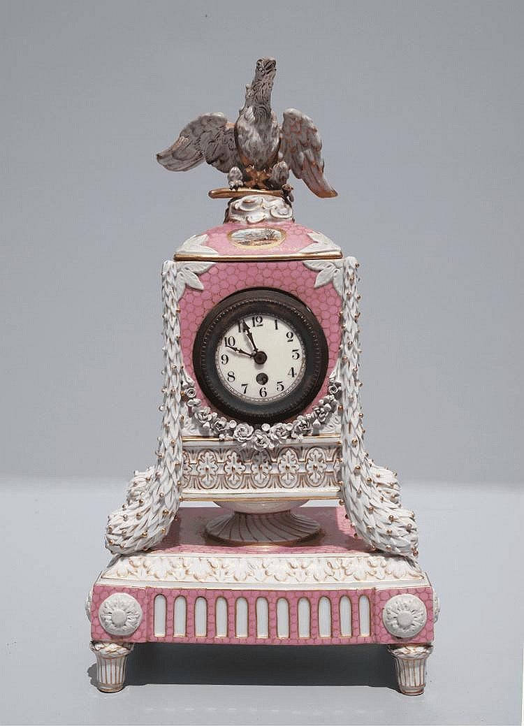 A European (probably Austrian) mantel timepiece