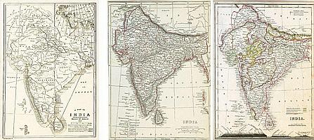 Prince of Wales; A Map of India / L DOWER; INDIA