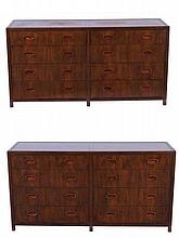 MICHAEL TAYLOR FOR BAKER, PAIR OF DRESSERS
