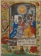 Pentecost, single leaf from a Book of Hours,