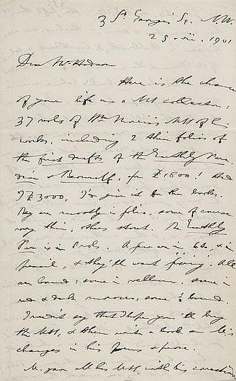 Furnivall (F.J.) Twenty three autograph letters