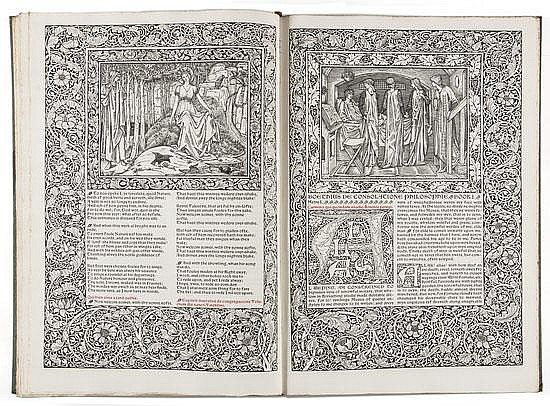 Chaucer (William) The Works, edited by F.S. Ellis,