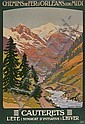 CONSTANT-DUVAL, Leon CAUTERETS lithograph in colours, printed by Via-Deco, Paris, condition A-, backed on linen 41 x 28in. (104 x 71cm.), Constant (1877) Duval, Click for value
