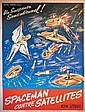 Affiche Anonyme - Spaceman contre Satellites