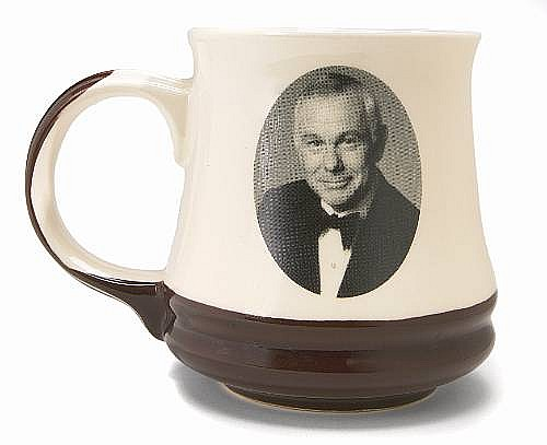 A Johnny Carson coffee mug made for