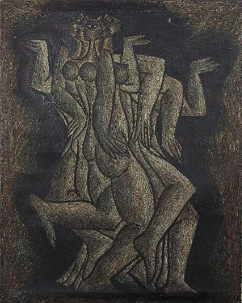 Sadequain (1930-1987) Entwined Nudes