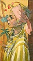 Stanley F. Pinker (South African, born 1924) Lady wearing a pink head scarf, Stanley Pinker, Click for value