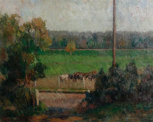 Graham Bell (British, 1910-1943) Cows at Rodwell
