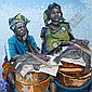 Kunle Adegborioye (Nigerian, born 1966) The fish sellers unframed, Kunle Adegborioye, Click for value