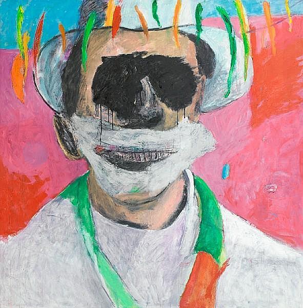 Albert Adams (South African, 1929-2006) Celebration Head unframed