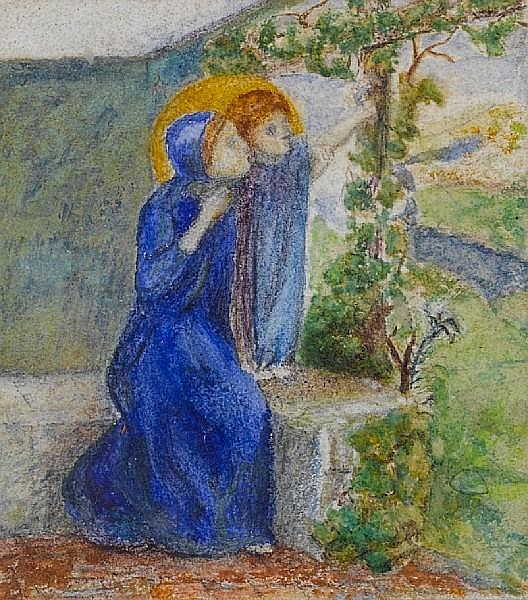 Elizabeth Siddal (British, 1834-1862) Madonna and child