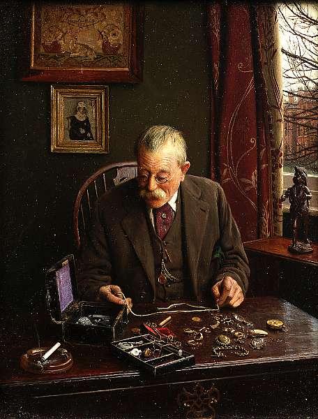 Charles Spencelayh, RMS, HRBSA (British 1865-1958)
