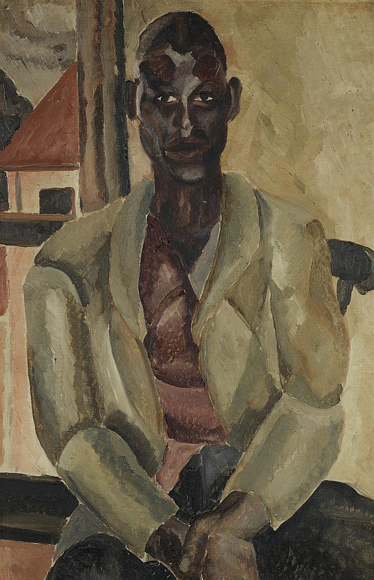 Graham Bell (South African, 1910-1943) 'The Green Coat'