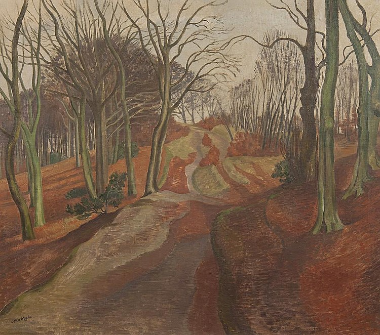 John Northcote Nash (British, 1893-1977) 'Winter in a beechwood'
