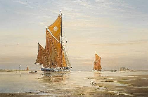 Roger Charles Desoutter (British, born 1923) Thames barges