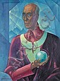 Herbert Gurschner (Austrian, 1901-1975) Portrait of Algernon Blackwood