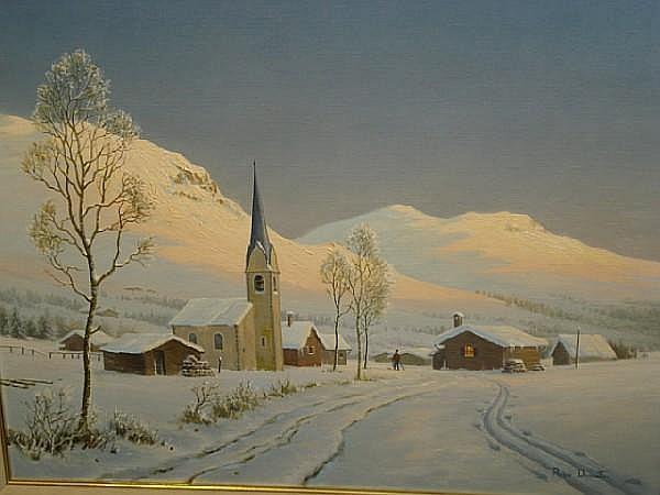 Roger Charles Desoutter (British, born 1923) Winter landscape
