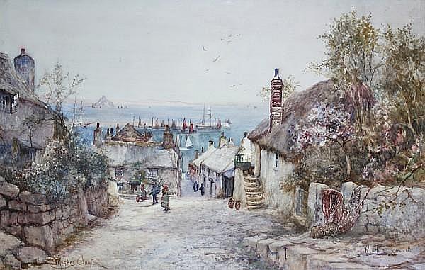 James Hughes Clayton (British, active 1891-1929) 'Newlyn, Cornwall',
