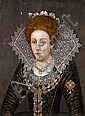 Follower of Robert Peake the Elder (circa 1551-1619 London) Portrait of a lady, half-length, unframed