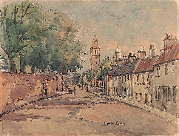 Robert Hardie Condie (British, 1898-1981) 'North Street, St. Andrews'