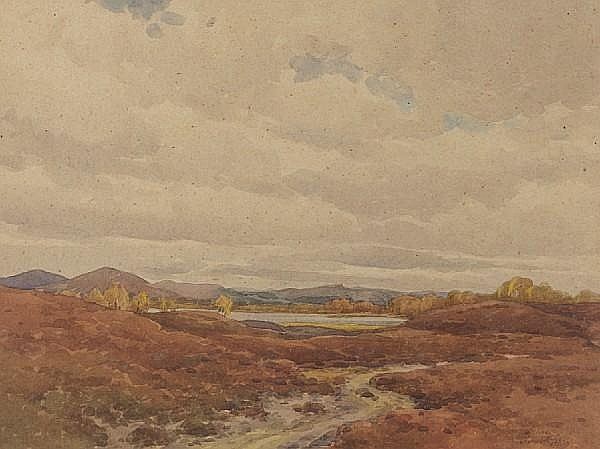 Samuel Pope (British, active 1896-1940) 'The Hills of Assynt'
