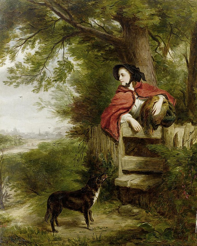 William Powell Frith, RA (British, 1819-1909), in collaboration with Richard Ansdell, RA (British, 1815-1885) and Thomas Creswick, RA (British, 1811-1869) A dream of the future