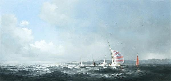 Dusan Kadlec (Canadian, born 1942) The yacht race