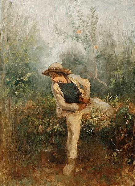 Alexandre Antigna (French, 1817-1878) The poacher