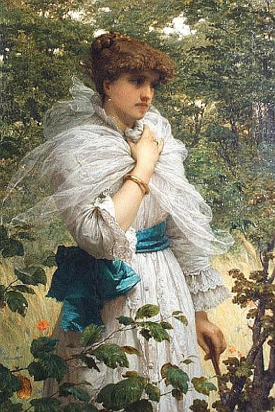 Raffaele Giannetti (Italian, 1832-1916) A summer beauty