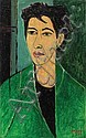 Michael Argov (Israeli, 1920-1982) Woman in green, Michael Argov, Click for value