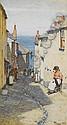 Walter Langley, RI (British, 1852-1922) A Newlyn street scene