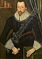 Circle of Robert Peake (circa 1551-1626 London) Portrait of a bearded gentleman,