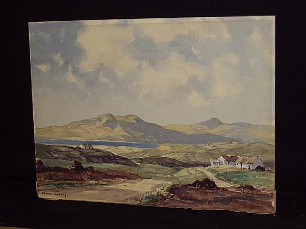 Frank Murphy (Irish, 1925-1979) 'Near Gortahork', Irish country landscape,