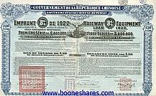 RAILWAY EQUIPMENT LOAN 1922 (10 pieces)