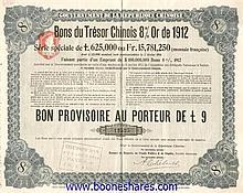 GOUVERNEMENT DE LA REP. CHINOISE