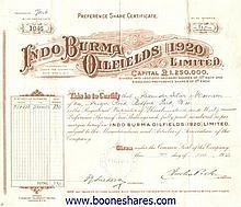 INDO BURMA OILFIELDS (1920) LTD.