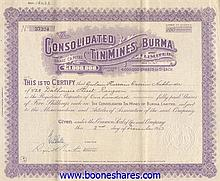 CONSOLIDATED TIN MINES OF BURMA LTD