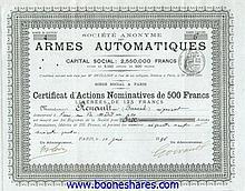 ARMES AUTOMATIQUES, S.A. DES