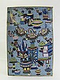 A rectangular cloisonne plaque China late 18th