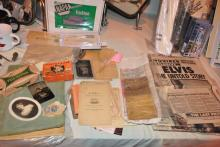 LOT OF ANTIQUE/VINTAGE POSTAL CARDS AND NEWS PAPER