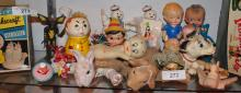 LOT OF COLLECTIBLE RUBBER DOLLS/TOYS