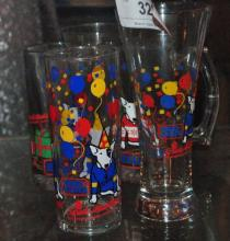 LOT OF 4 BUD LIGHT COLLECTOR CUPS