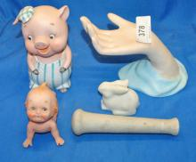 LOT OF FIVE MISC PORCELAIN COLLECTIBLES