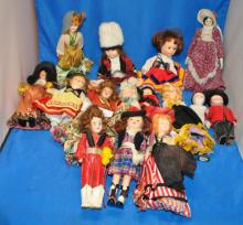 LOT OF 15 COLLECTOR DOLLS