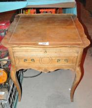 PINE WOOD DOVETAILED DRAWER END TABLE