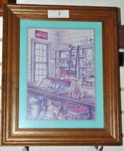 COCA-COLA GENERAL GOODS STORE FRAMED PICTURE