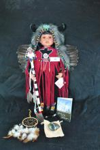 FRANKLIN HEIRLOOM NATIVE AMERICAN COLLECTOR DOLL