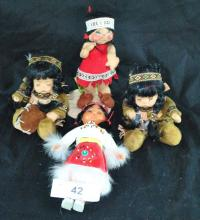 MINIATURE NATIVE AMERICAN COLLECTOR DOLLS
