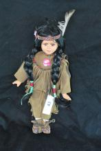 PORCELAIN NATIVE AMERICAN COLLECTOR DOLLS